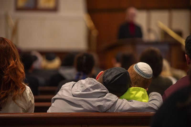 PAMPLIN MEDIA GROUP: DIEGO DIAZ - Family and friends honored Alter Wiener's memory Friday, Dec. 14, during a memorial service at Congregation Neveh Shalom in Portland.