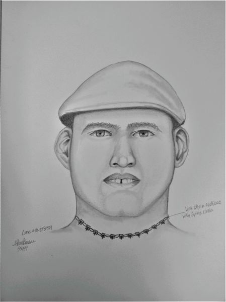 PPB ILLUSTRATION - A forensic sketch of an assault suspect who gave his name as Jeremy.