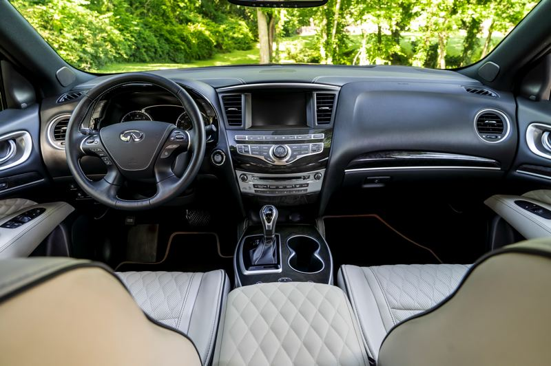 COURTESY INFINITI MOTOR CO. - The interior of the 2019 Infiniti QX60 is well designed and can be ordered with all luxury and technology options.