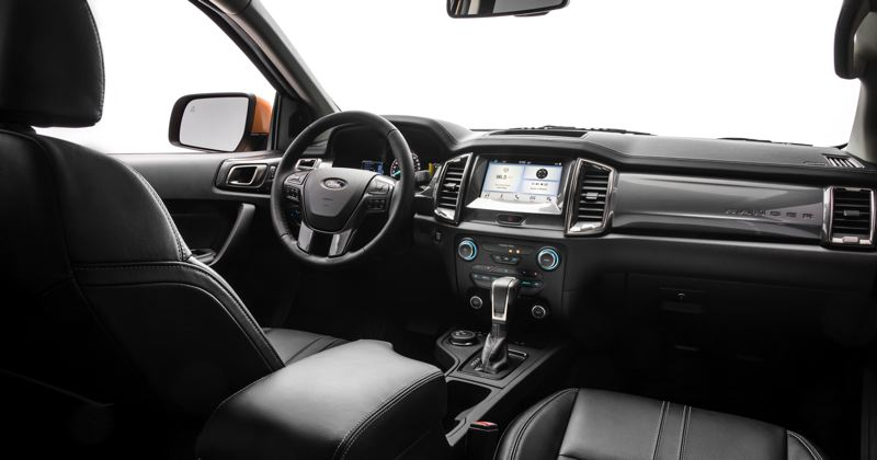 COURTESY FORD MOTOR COMPANY - The Ranger has a very quiet cabin, comes standard with the Ford SYNC smartphone integration system, among other features.