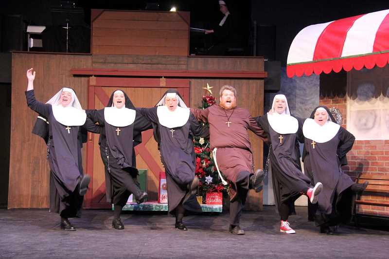 COURTESY PHOTO: THEATE IN THE GROVE - Theatre in the Grove brings musical comedy to Christmas with its production of 'Nuncrackers,' running until Dec. 23.
