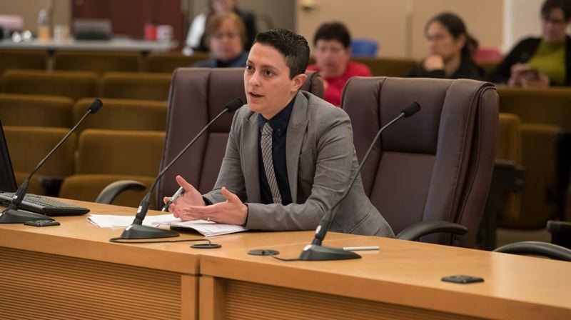 COURTESY: MULTNOMAH COUNTY - Dani Bernstein, executive director of the Office of Community Involvement, speaks with the Multnomah County Board of Commissioners on Dec. 13.