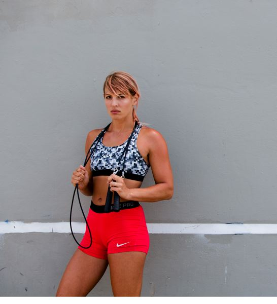 COURTESY PHOTO - Krista Stryker preaches efficient fitness and exercise anywhere.