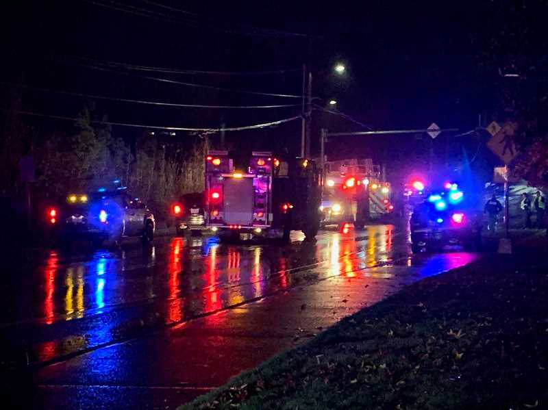 COURTESY OF TIGARD POLICE DEPARTMENT - A pedestrian was seriously injured on Hall Boulevard on Monday evening while trying to cross the road just south of Tigard City Hall.