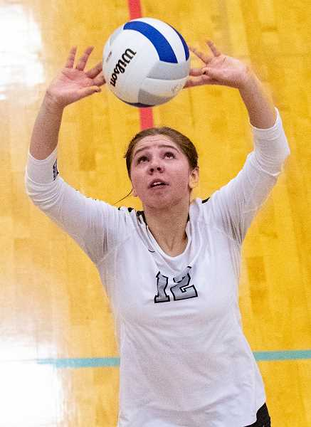 LON AUSTIN/CENTRAL OREGONIAN -  Crook County High School junior setter Anna Woodward was named second team all-state.