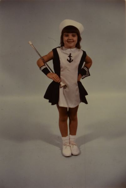 CONTRIBUTED PHOTO - McLaughlin learned how to twirl a baton as a youngster and still has that skill.