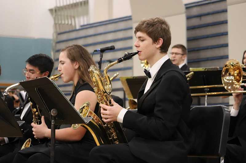 PHOTO COURTESY OF ANDREW KILSTROM - The Jazz Band takes a turn on stage during the Wilsonville Winter Festival.