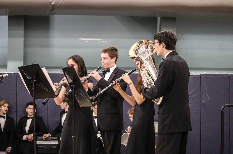 PHOTO COURTESY OF ANDREW KILSTROM - The Concert Band performs songs at the Wilsonville Winter Festival.
