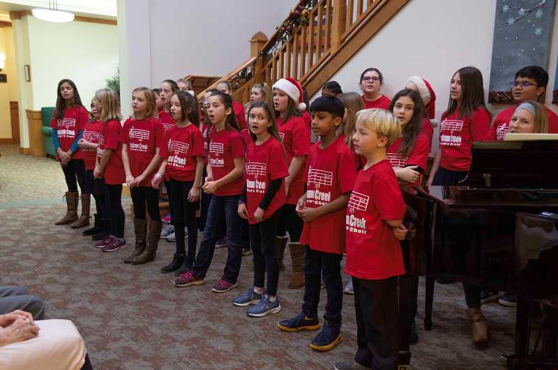 SPOKESMAN PHOTO: CLARA HOWELL - The Boeckman Creek Senior Choir is comprised of fourth- and fifth-graders.