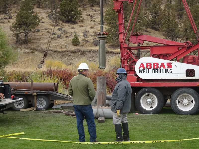PHOTO COURTESY OF CITY OF PRINEVILLE - City of Prineville personnel test the aquifer prior to the recent decision to launch a storage and recharge system.
