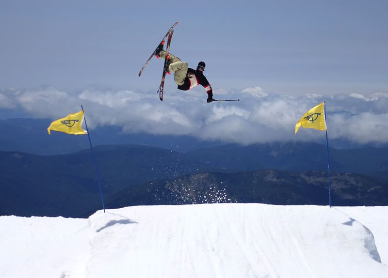 CONTRIBUTED PHOTO - Sandys Kaymen Izer goes off a jump during a Slopestyle competition last season. He has been invited to join the Toyota Rev Tour this winter.
