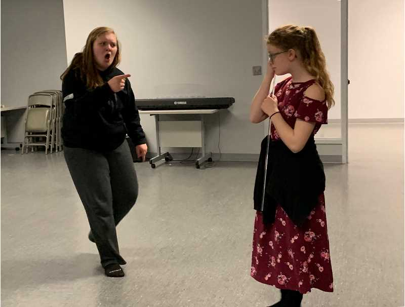 STAFF PHOTO: JANAE EASLON - Noelle Parent, left, and Evelyn Reed, right, both star in STAGES Performing Arts Youth Company's production of 'Les Miserables.'