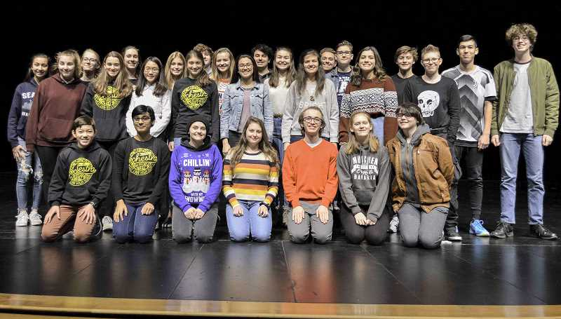 TIDINGS PHOTO: CLARA HOWELL  - West Linn High School orchestra and choir students were selected for all-state and all-Northwest honor groups. Not pictured here are the band students who were selected as well.