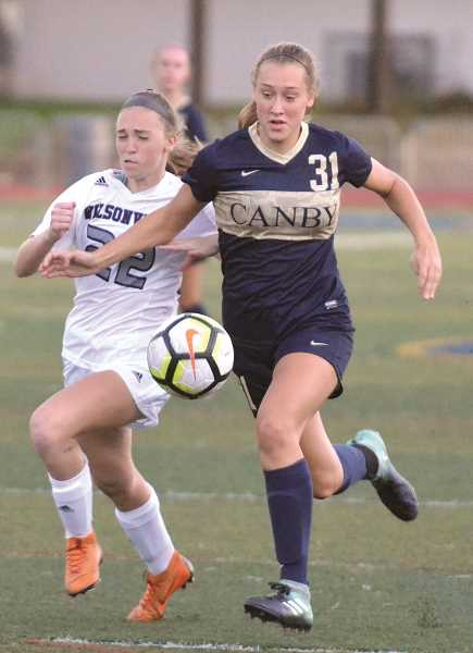 ARCHIVE PHOTO: TANNER RUSS - Canby junior Ally Odell is a defender for the Canby girl's soccer team.