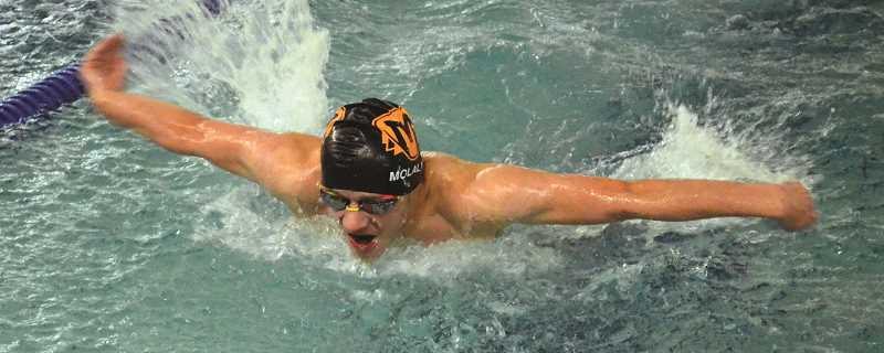PIONEER PHOTO: TANNER RUSS - Molalla swim team