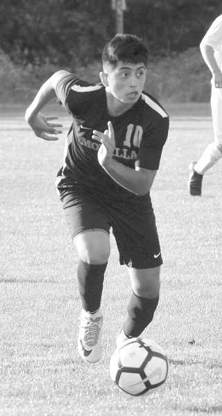 ARCHIVE PHOTO: TANNER RUSS - Molalla boys' soccer team was one of the academic award winners.