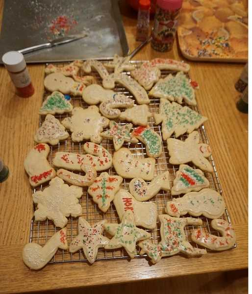 SUBMITTED PHOTO: ELENA LEE - Baking cookies is one the best things about the holiday season for Lake Oswego High student Elena Lee and her family