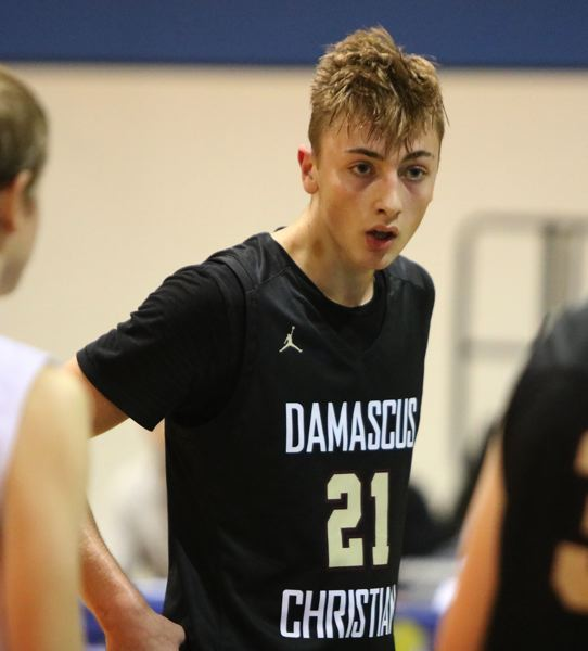 PAMPLIN MEDIA: JIM BESEDA - Damascus Christians Jason Budey contributed 12 points in the Eagles league win Tuesday.