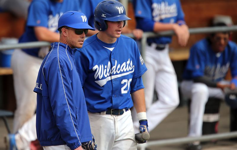 SUBMITTED PHOTO - Lakeridge baseball coach D.J. Whittemore (left — shown here during his time at Western Nevada College) and the Pacers hope to begin rebuilding their program this spring.