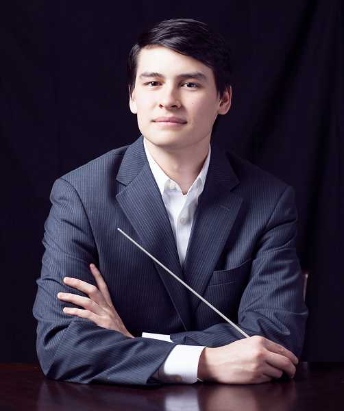 SUBMITTED PHOTO - Norman Huynh, the associate conductor for the Oregon Symphony, will lead the group through a performance of classical music at George Fox University on Jan. 4.