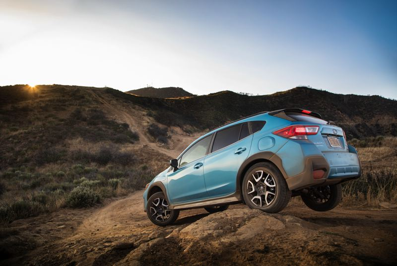 SUBARU OF AMERICA - The 2019 Subaru Crosstrek Hybrid is as wet weather and off-road capable as the gas-only version.