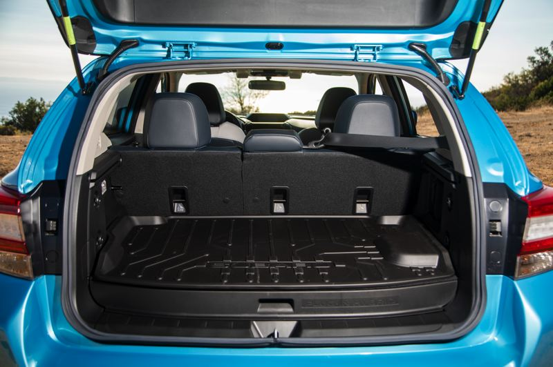 SUBARU OF AMERICA - The 2019 Subaru Crosstrek Hybrid sacrifices some cargo space to the battery pack, but is still a practical family car.