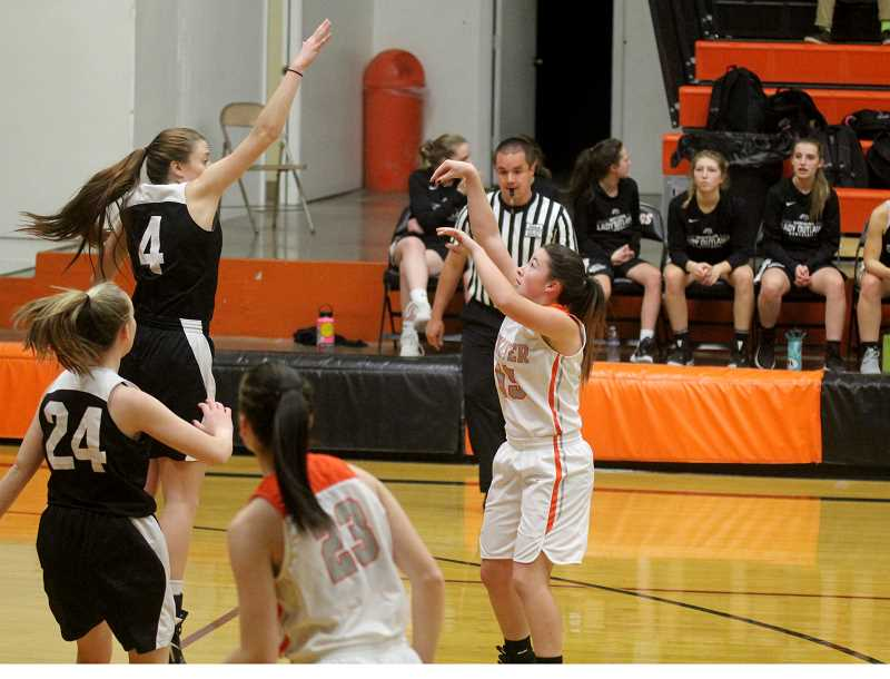 STEELE HAUGEN - Kiana Webb takes a shot during Culvers' 55-27 win over 4A Sisters on Dec. 19.