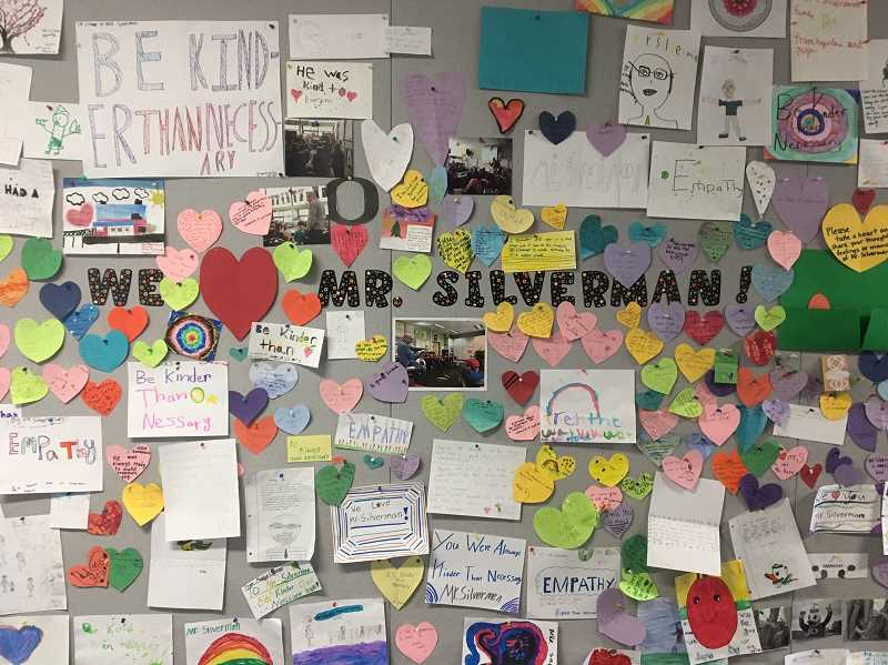 TIDINGS PHOTO: CLARA HOWELL  - Students shared their thoughts, feelings and memories about Mark Silverman.