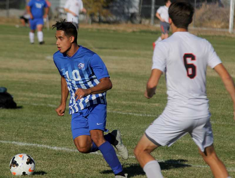 STEELE HAUGEN - Speedster Leo Gutierrez earns honorable mention and had 10 goals on the season and assisted on three.