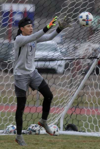 STEELE HAUGEN - White Buffalo goalie Byron Patt was the first goalkeeper from Madras to earn TVC first-team honors, making some incredible saves during the season.
