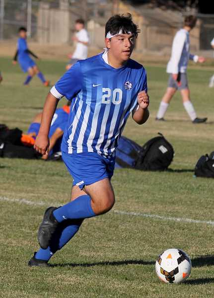 STEELE HAUGEN - Tyriek Rodriguez, a midfielder for Madras, scored three goals and assisted on two, helping him earn second-team.