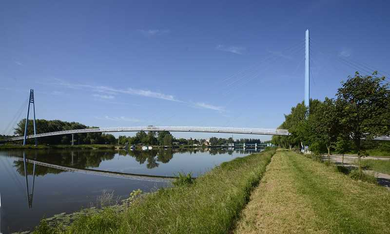 SUBMITTED PHOTOS - This footbridge in the Czech Republic in is an example of a cable-stayed bridge.