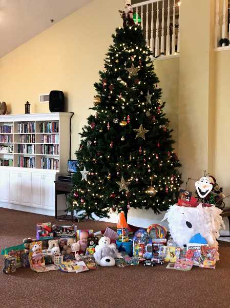 79 Brookdale residents donated gifts to the Marine Toys for Tots program.