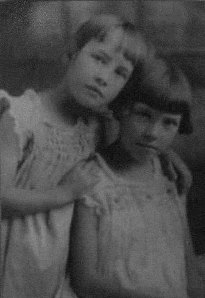 COURTESY PHOTO - Dawn Moehnke (seated) with her sister Hazel in the 1920s.