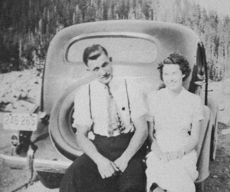 COURTESY PHOTO - Dawn Moehnke, who turned 100 on Dec. 24, is pictured on her first date with her future husband, Wally, in 1936. They would marry in 1938 and stay married for 57 years, until his death in 1995.