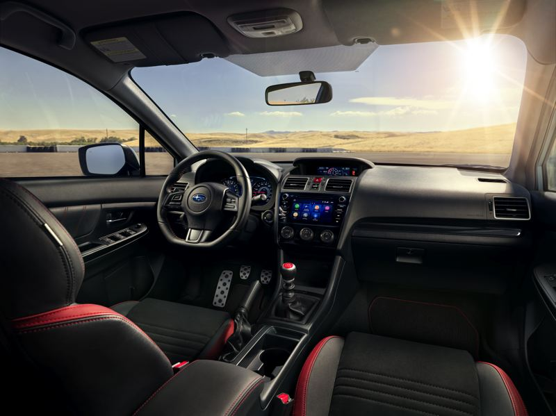 COURTESY SUBARU OF AMERICA - The interior of the 2019 Subaru WRX features special trim, including supportive Recaro seats.