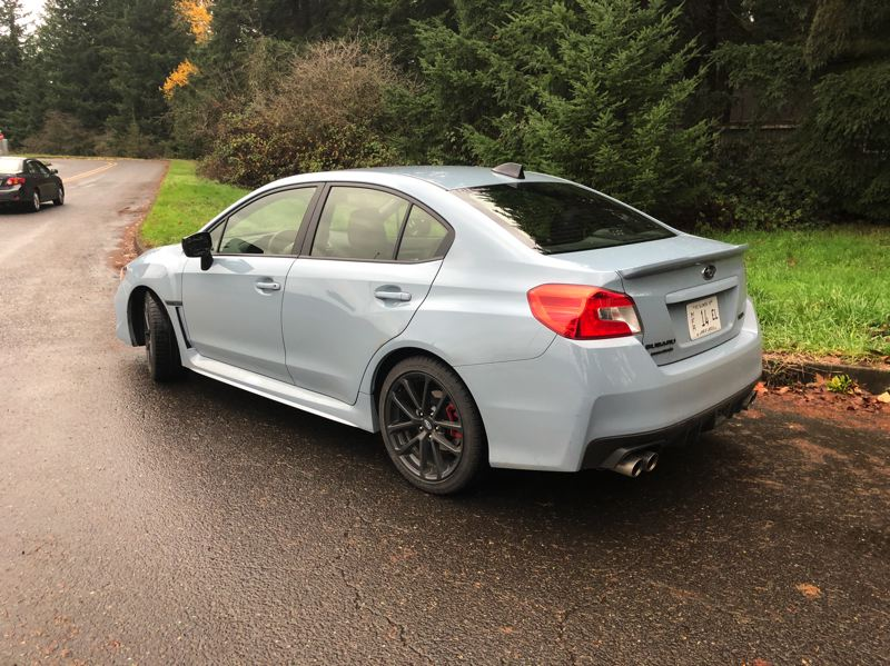 PORTLAND TRIBUNE: JEFF ZURSCHMEIDE - The 2019 Subaru WRX is only available as a sedan, but with fastback styling and special trim, like the dual exhausts.