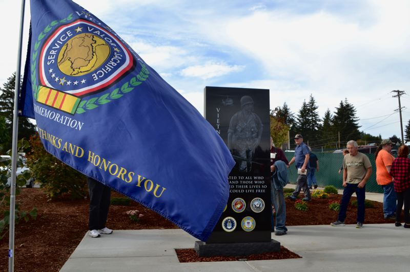 FILE PHOTO - After years in the making, the community of Boring dedicated its new memorial to honor Clackamas County Vietnam veterans on Sept. 21.