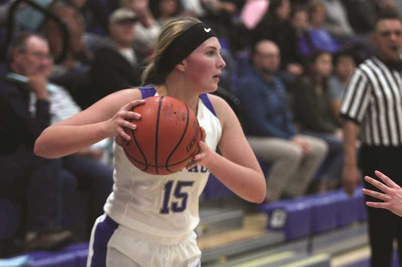PHIL HAWKINS - St. Paul senior Megan Tuck and the girls basketball team improved to 9-0 last week, including 4-0 against Casco League opponents after defeating the Jewell Blue Jays 51-24 on Dec. 17 followed by a 47-11 victory against the Oregon School for the Deaf on Dec. 19.