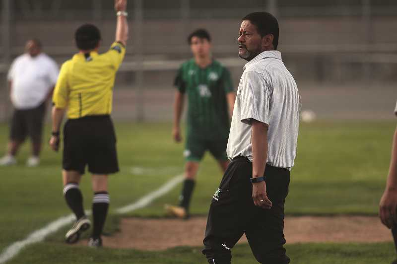 PHIL HAWKINS - North Marion boys soccer coach Rafael Pelaez was named 2018 4A State Boys Soccer Coach of the Year after guiding the Huskies to the state championship game in November.