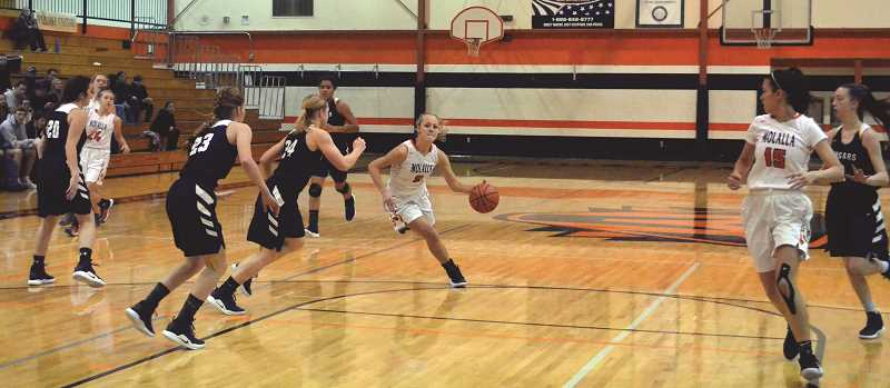 ARCHIVE PHOTO: TANNER RUSS - Molalla's girls team is now 4-4 on the season.