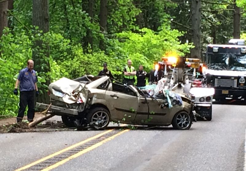 COURTESY MULTNOMAH COUNTY - The aftermath of a fatal crash on Cornelius Pass Road is shown in this undpated photograph from Multnomah County.