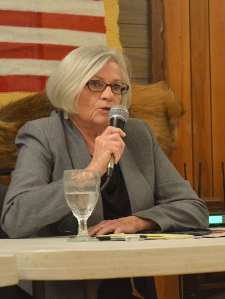 SPOTLIGHT FILE PHOTO - Paulette Lichatowich, shown here at a candidate forum, resigned from the Port of Columbia Countys board of commissioners and shortly therafter, pulled out of the race for county commissioner in 2018, after she was the subject of ethics complaints filed with the state that were later dismissed by the Oregon Government Ethics Commission.