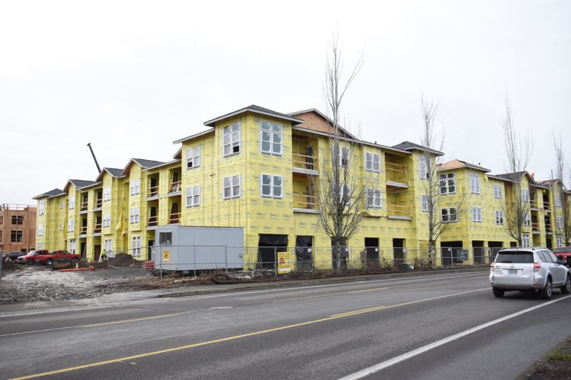 OUTLOOK PHOTO: MATT DEBOW - Apartments in Fairview are under construciton. A recently passed affordable housing bond will create more construction on affordable housing.