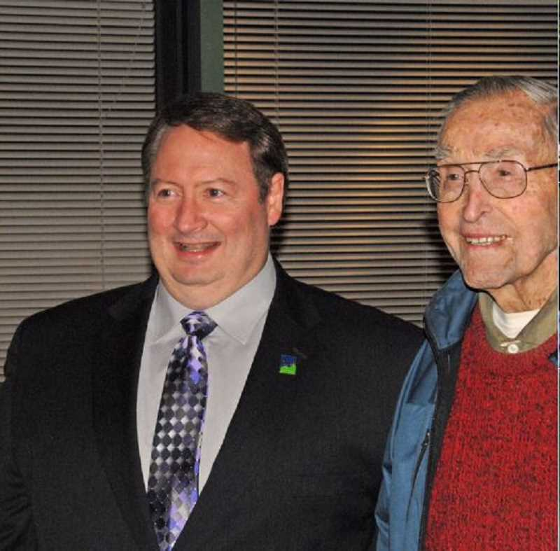 COURTESY OF JOHN COOK - Mayor John Cook enjoyed the times he spent with Curtis Tigard who passed away last summer at the age of 109.