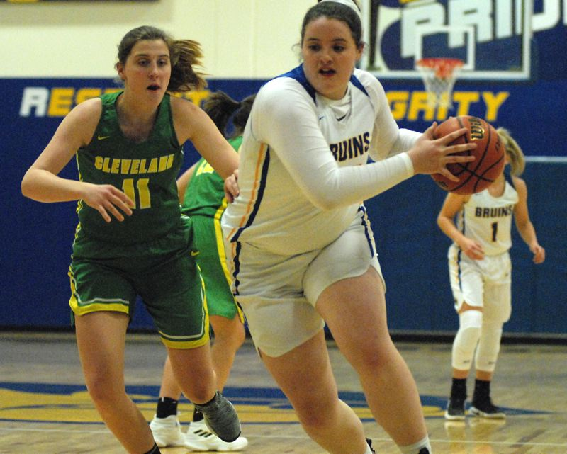 OUTLOOK PHOTO: DAVID BALL - Barlows Libby Mathis has proven to be a force in the post for the Bruins.