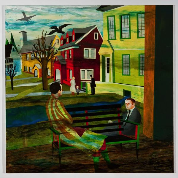 PHOTO COURTESY: CCC - Using the word domestic as a 'situational condition,' 'Domesticade' is a painting by Matthew Dennison to be shown in Oregon City.