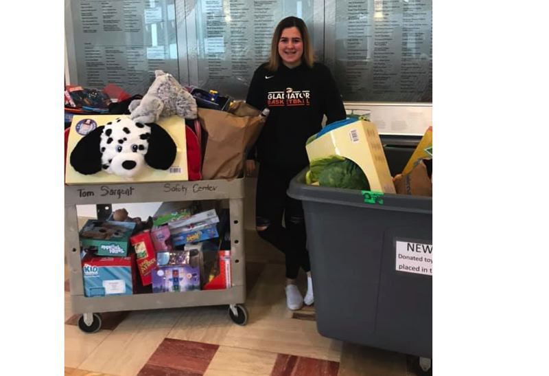 Gladstone middle schooler Kylie Totten has been holding a holiday toy drive for Doernbecher since 2012.