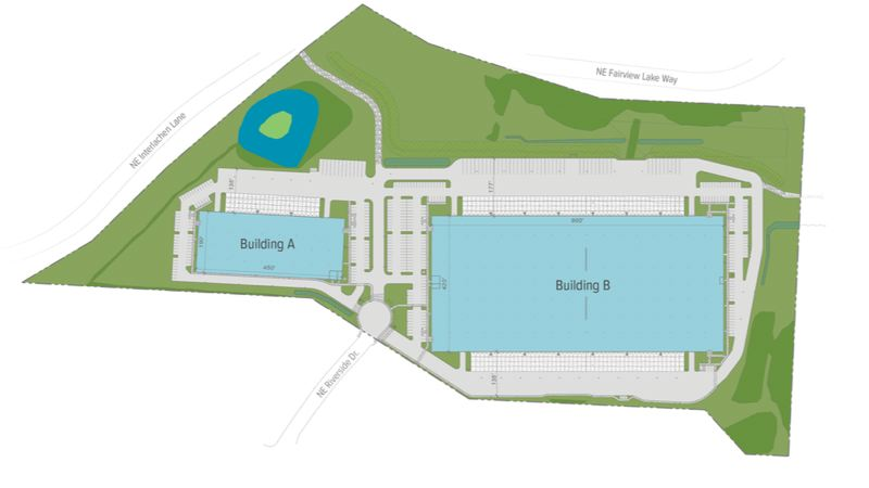 CONTRIBUTED PHOTO: TRAMMELL CROW COMPANY - Site plan of the Blue Lake Corporate Park