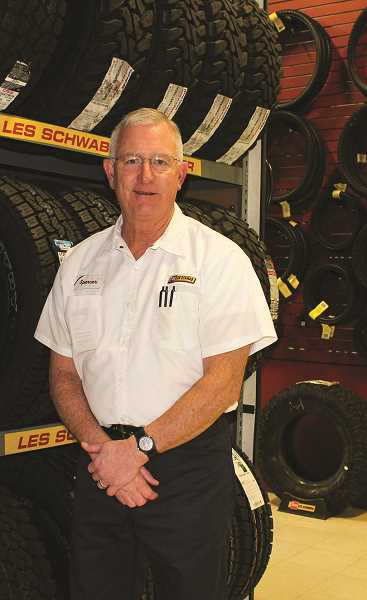 HOLLY SCHOLZ/CENTRAL OREGONIAN  - Prineville Les Schwab Tire Center Manager Spencer Brown retired at the end of 2018 after 32 years with the company.
